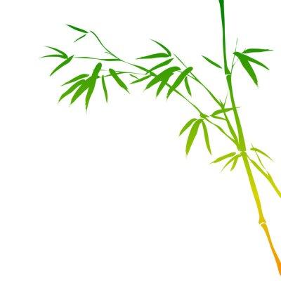 Nálepka pozadí s bambusovými poboček