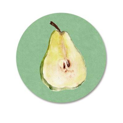 Nálepka Pozadí s ovocem. Akvarel ilustrace