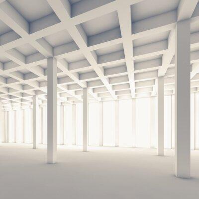 Nálepka Prázdné abstraktní pokoj, náměstí 3d ilustrační