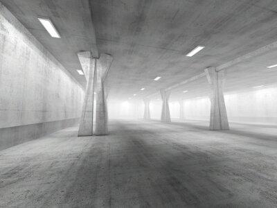 Nálepka Prázdné podzemní parkoviště 3D rendering