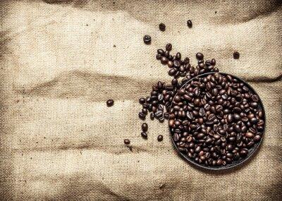 Nálepka Pražená káva v pánvi.