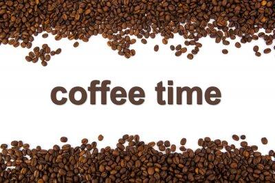 Nálepka pražená kávová zrna s názvem