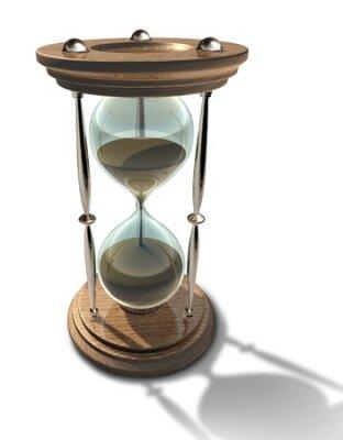 Přesýpací hodiny hodiny s písky času běží představuje termín nebo stárnutí izolované.