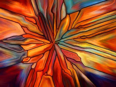 Nálepka Při hledání barevného skla