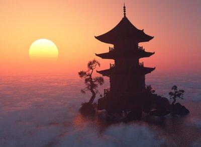 Nálepka Při západu slunce.