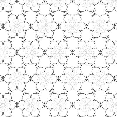 Nálepka Primitivní jednoduchý šedý retro bezešvé vzor