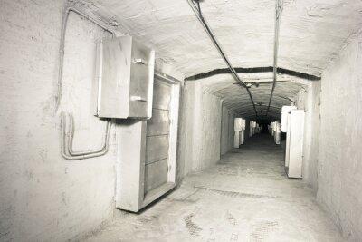 Nálepka průmyslové interiér vantilation systému tunelu