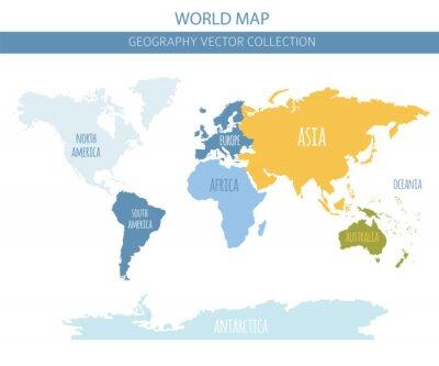 Nálepka Prvky mapy světa. Sestavte si vlastní geografickou informační grafickou sbírku