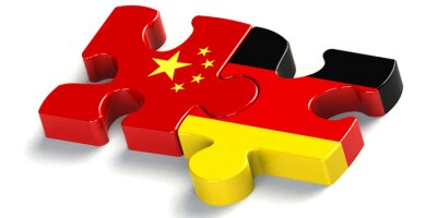 Nálepka puzzelteil Zusammenarbeit china