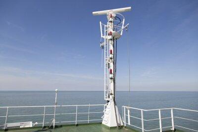 Nálepka Radar stožár na horní palubě nákladní lodi