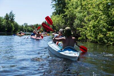 Nálepka Rafting na řece Vorskla.