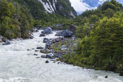 Nálepka řeka Exploradores, Chile