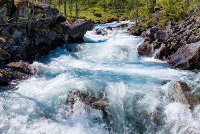 Nálepka Řeka v Norsku