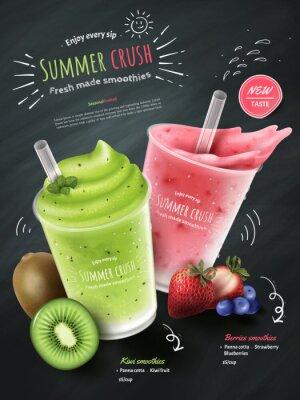 Nálepka Reklamy na ovocné smoothies