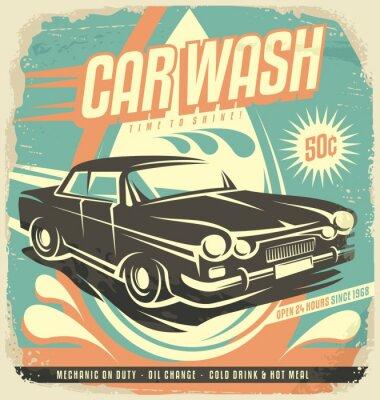 Nálepka Retro Car Wash plakátů Design