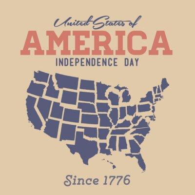 Nálepka Retro Den nezávislosti Přihlásit se