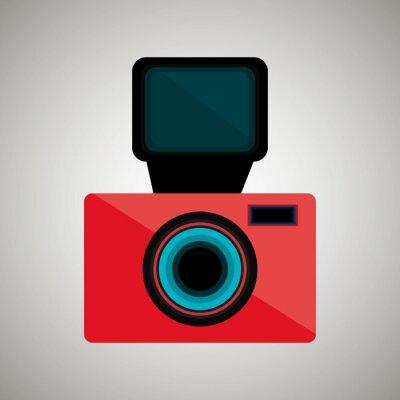Nálepka retro designu kamera
