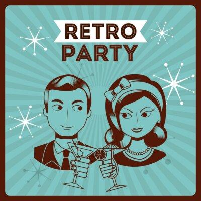 Nálepka Retro párty