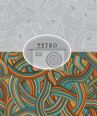Retro pouzdro s barevným vzorem