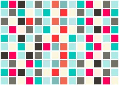 Nálepka Retro Web Design bezešvé dlaždice - mozaika náměstí pozadí Vector textury