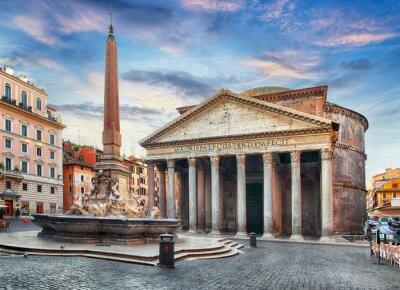 Nálepka Řím - Pantheon, nikdo
