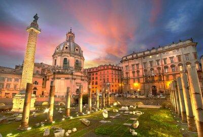 Nálepka Řím Sunset