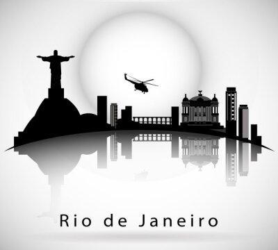 Nálepka Rio de Janeiro Skyline