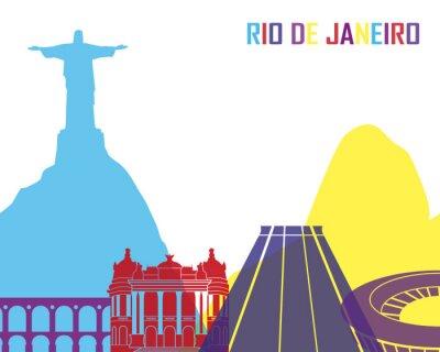 Nálepka Rio de Janeiro skyline pop