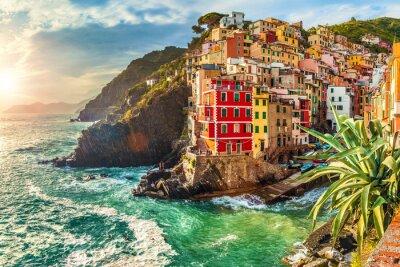 Nálepka Riomaggiore, Cinque Terre, Itálie
