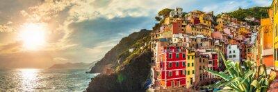 Nálepka Riomaggiore panorama, Cinque Terre, Itálie