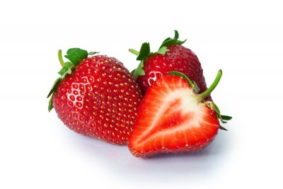 Nálepka Ripe strawberries on white background