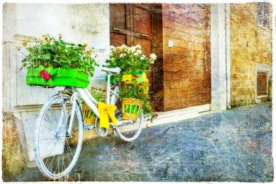 Nálepka ročník květinové kolo - půvabné ulice dekorace