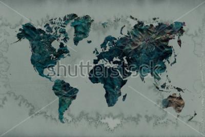 Nálepka ročník mapa světa