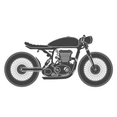 Nálepka ročník motocykl. Cafe Racer téma
