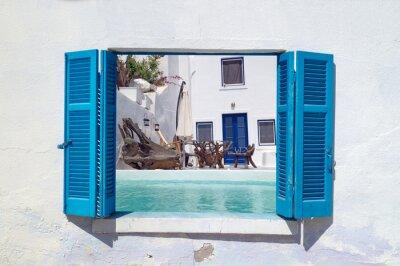 Nálepka Romantická dovolená na ostrově Santorini, Řecko