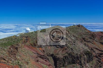 Nálepka Roque de los Muchachos observatoř La Palma, Kanárské ostrovy, Španělsko