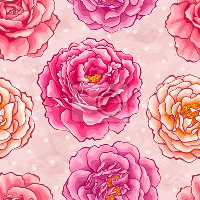 Nálepka Roses bezešvé