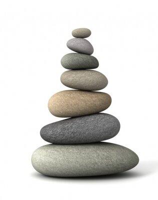 Nálepka rovnováha kameny