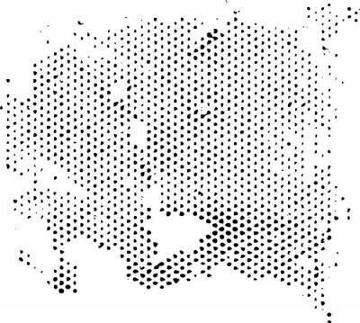 Nálepka Rozptylující degeneruje půltón vzor textura. Vektor textury grunge překrytí.