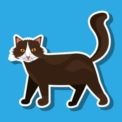 Nálepka roztomilé kočky designu