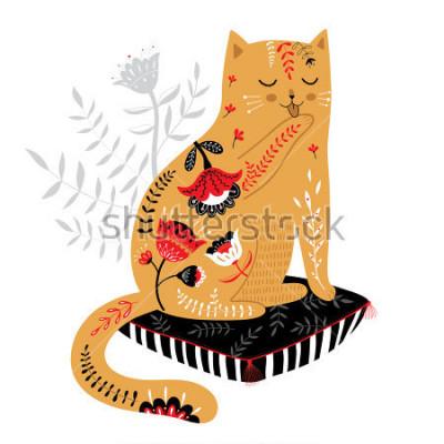 Nálepka roztomilé roztomilé kočky
