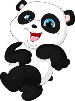Nálepka Roztomilé vtipné dítě panda