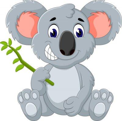 Nálepka Roztomilý koala kreslený ilustrační