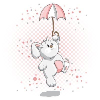 Nálepka Roztomilý králík - růžové detaily