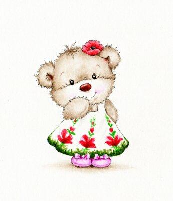 Nálepka Roztomilý medvídek dívka