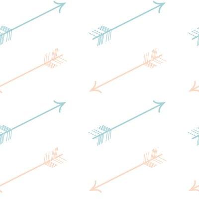 Nálepka roztomilý pastelově barevné růžové modré šipky bezešvé vektoru vzor pozadí obrázku