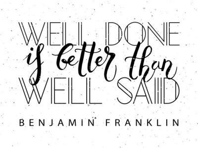 Nálepka Ručně načrtnuté inspirativní citát