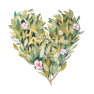 Ručně tažené květinové ilustrace na bílém pozadí.