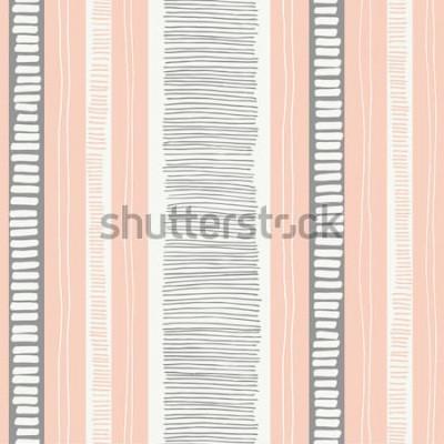 Nálepka -Ručně tažené náladový texturou organických čar a pruhů vektor bezešvé vzor. Čerstvé abstraktní geometrické. Klikyháky.