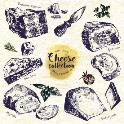 Nálepka Ručně tažené sýry Set
